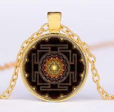 sri yantra necklace pendant charms