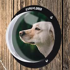 Amazon Com Expawlorer Dog Fence Window For Pet Durable Acrylic Dog Dome For Backyard Fence Dog House Reduced Barking Necessary Hardware And Instructions Included Pet Supplies