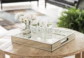 regina andrew large mirrored tray