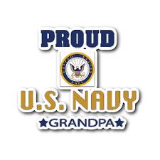 U S Navy Grandpa Car Window Sticker Grandparent Glow