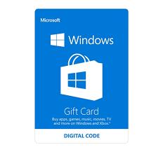 microsoft windows gift card 10