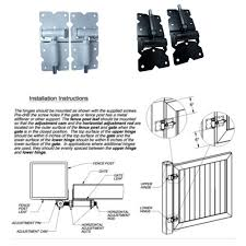 1 Pair Stainless Steel Hedge Pvc Fence Garden Stop Gate Hinges Latch Powder Coated Stud Home Closing Adjustable Vinyl Door Hinges Aliexpress