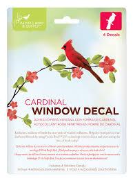 Window Decal Cardinal Pb 0047 6 95 Pacific Bird And Supply Company Wild Bird Supplies