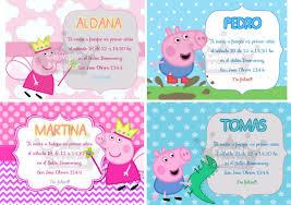 Peppa Tarjetas Invitaciones Cumpleanos Personalizadas X 10 60