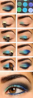 blue makeup tutorial for green eyes