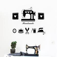 Tailor S Shop Vinyl Wall Sticker Clothes Store Window Glass Decor Sewing Machine Iron Scissors Wall Decals Home Room Decoration Wall Stickers Aliexpress