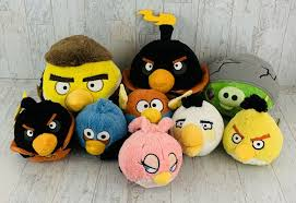 Angry Birds Blue Yellow Red Black Plush Stuffed Lot of 9 - Angry Bird Gifts  #angrybird #angrybirds - Angry Birds Blue Yellow R… | Bird gifts, Black and  red, Gifts