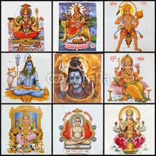 Pantheon Collage Of Hindu Gods Sticker Wall Decals Wallsheaven Malgorzata Kistryn