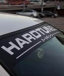 Hardtuned Window Banner Modern Hardtuned Car Clothing Racewear