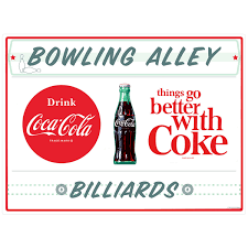 Coca Cola Bowling Alley Billiards Wall Decal At Retro Planet