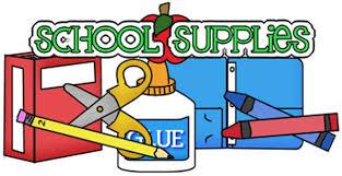 School Supplies List Clip Art - School Style