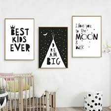 Wall Art Canvas Painting Minimalist Nordic Poster Picture For Kids Room Decor Ebay