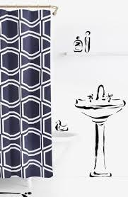kate spade navy bow tile shower curtain