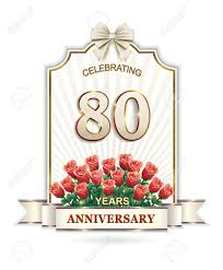 80 Aniversario Tarjeta Invitaciones Y Felicitaciones Fiestas Y