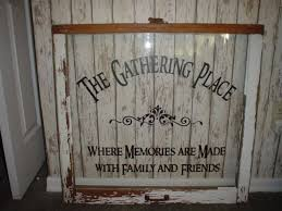 Family Wall Decal The Gathering Place Vinyl Lettering Wall Word Quotes Decals Crafts 15 99 Via Etsy Window Crafts Old Window Crafts Family Wall Decals