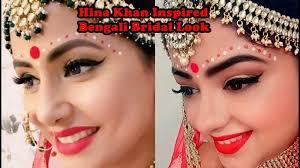 inspired bengali bridal makeup look