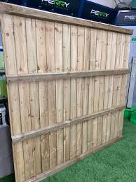 Hand Made Feather Board Fence Panel 6x6ft Natural