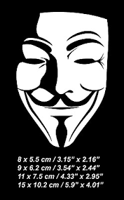 V For Vendetta Anonymous Mask Car Window Bumper Laptop Vinyl Decal Sticker Ebay