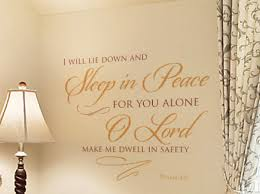 I Will Lie Down And Wall Decal
