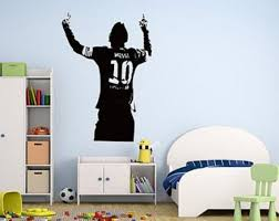 Lionel Messi Wall Decal Soccer Player Decal Boys Room Etsy