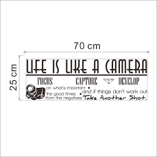 Life Is A Camera Quote Wall Sticker Free Shipping Wall Stickers Art