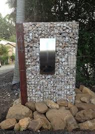 Gabion Letterbox Idea Gabion Wall Backyard Landscaping Designs Letter Box