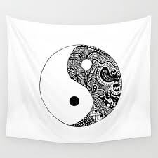 Yin Yang Wall Tapestry by Abby Mitchell from Society6 | Cawledge