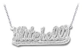 14k white gold personalized name