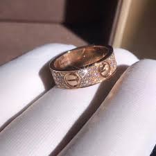 copy 18k pink gold cartier love ring