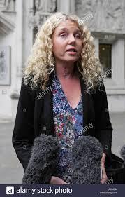 Media representative Alison Smith-Squire outside the Supreme Court ...