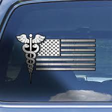Usa Nurse Flag Decal Sticker American Nurse Paramedic Healthcare Sticker Decal Ebay