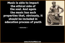 music is able to impact the ethical side of the com