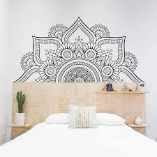 Half Mandala Sacred Geometry Yoga Wall Sticker Vinyl Home Decor Living Room Bedroom Sofa Headboard Decals Removable Mural 4128 Wall Stickers Aliexpress
