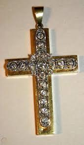 antique 14kt yellow gold cross pendant