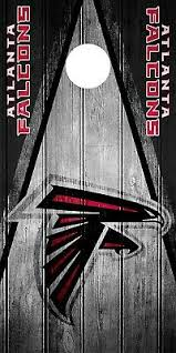 Atlanta Falcons Wood Cornhole Wrap Nfl Logo Skin Game Board Set Vinyl Decal Co09 Cornhole Bag Toss