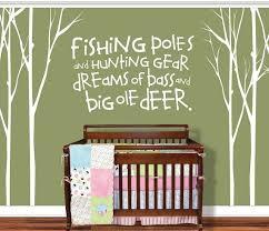 Hunting Fishing Deer Baby Fishing Pole Tree Decal By Vinylthingz 100 00 Childrens Room Wall Decals Baby Boy Nurseries Nursery Vinyl Decals