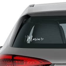 Custom Hand Lettered Name W Heart Name Decal Name Sticker Car Decal Laptop Stickers Laptop Decal Macbook Decal Car Decal Vinyl Decal