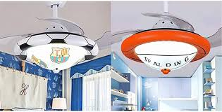 36 22 Wide Football Design Sports Theme Ceiling Fan Light Niuyao Soccer Ceiling International Sports Fan With Frosted Glass Shade In White For Boys Bedroom Kids Room Children Bedroom 479667 Amazon Com
