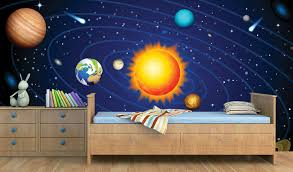 Transform Your Kids Room Into A Space Station Print A Wallpaper More