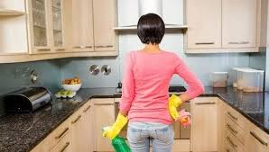 clean gunk and grime from kitchen cabinets
