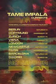 Tame Impala European Tour 2017