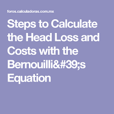 steps to calculate the head loss and
