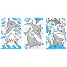 Borders Unlimited Inc Fish N Sharks Super Jumbo Wall Decal 10007 The Home Depot