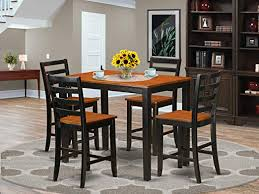Amazon Com 5 Pc Counter Height Pub Set Small Kitchen Table And 4 Kitchen Bar Stool Furniture Decor