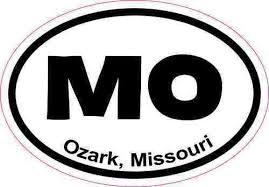 3in X 2in Oval Ozark Missouri Sticker Vinyl Travel Decal Luggage Stickers For Sale Online