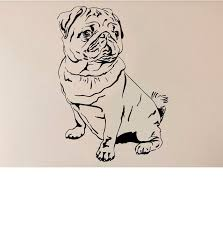Pet Animal Vinyl Decals Removable Wall Sticker For Kids Room Decor Pug Dog Wall Stickers Wall Murals Decals Wall Murals Stickers From Onlybrand 6 72 Dhgate Com