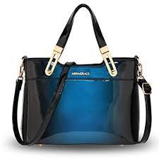 patent leather handbag for women 2 tone