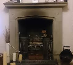 clean a neglected stone fireplace