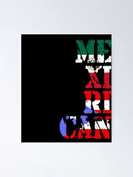 Puerto Rican Mexican Love Mexirican Poster By Dubbra Redbubble