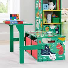 Senda Monsters 3 In 1 Convertible Kids Desk Storage Bench And 2 Bins Walmart Com Walmart Com